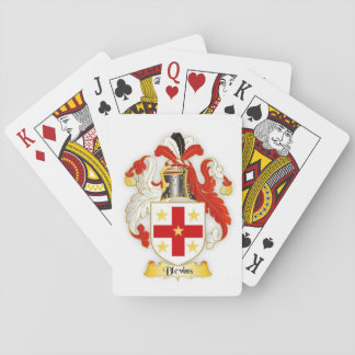 Blevins Family Crest Heraldry Playing Cards