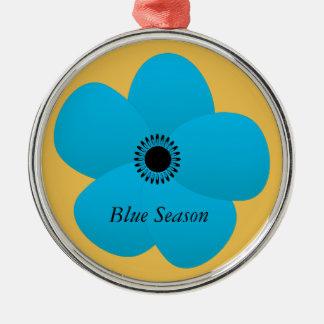 Blight Blue Holiday Season Flower Gift Christmas Ornament