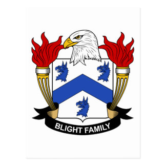 Blight Family Crest Postcard