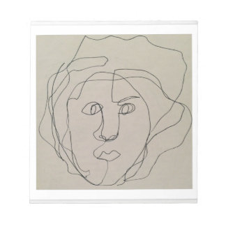 Blind contour drawing design notepad