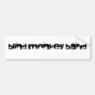 Blind Monkey Band Bumper Sticker