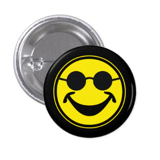 Blind Smiley yellow + your backg. & ideas 3 Cm Round Badge