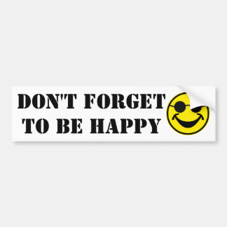 Blind Smiley yellow + your backg. & ideas Bumper Sticker