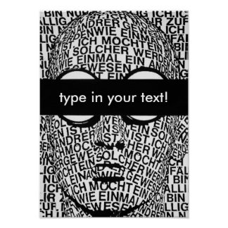 blind, type in your text! poster