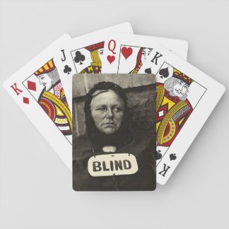 Blind Woman, New York  1917 Poker Deck