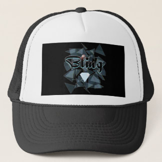 Bling abstract design trucker hat