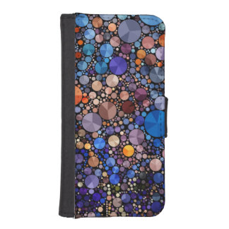 Bling Abstract  Iphone5 Faux Leather Wallet Case