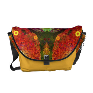 Bling Abstract Pattern Rickshaw Messenger Bag