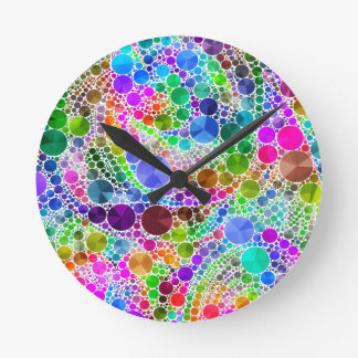 Bling Abstract Pattern Round Clock