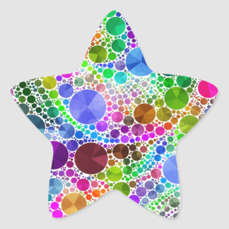 Bling Abstract Pattern Star Sticker