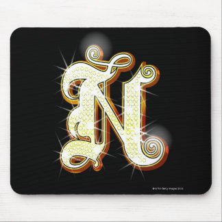 Bling alphabet N Mouse Pad