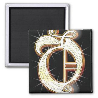 Bling alphabet O Magnet