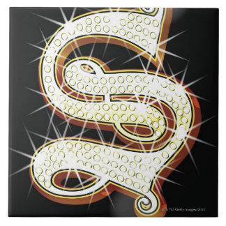 Bling alphabet S Tile