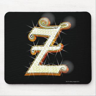 Bling alphabet Z Mouse Pad