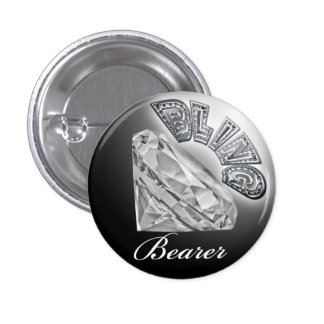 BLING Bearer Wedding Button