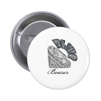 Bling Bearer Wedding Gift 6 Cm Round Badge