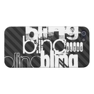 Bling; Black & Dark Gray Stripes iPhone 5 Covers