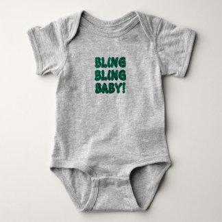 Bling Bling Baby (Green) Baby Bodysuit