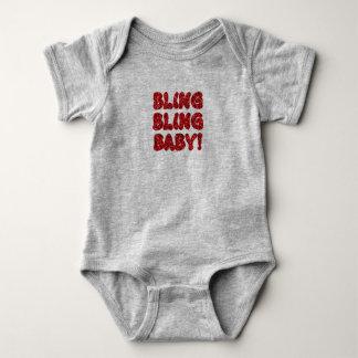 Bling Bling Baby (Red) Baby Bodysuit