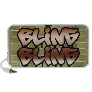 bling bling brick wall ghetto graffiti design mp3 speaker