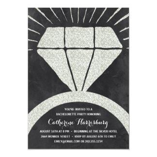 Bling Bling   Glitter-Look Bachelorette Party Card