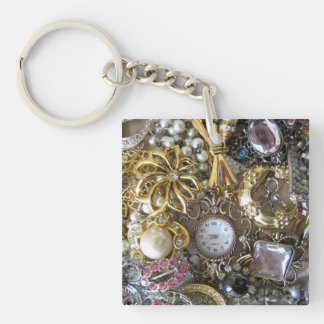 bling bling jewelry collection Double-Sided square acrylic key ring