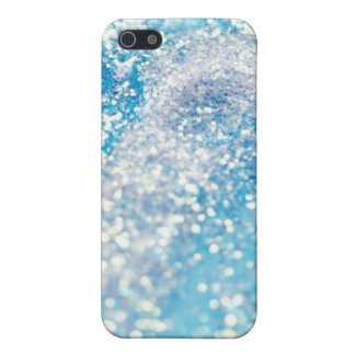 Bling blue sparkle glitter crystal iPhone 4 case