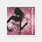 Bling Bombshell Sparkle Birthday Party | mauve Paper Napkin