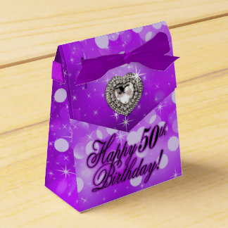 Bling Bombshell Sparkle Birthday Party | purple Favour Box