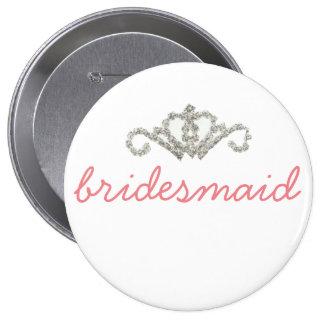 Bling Bridesmaid 10 Cm Round Badge