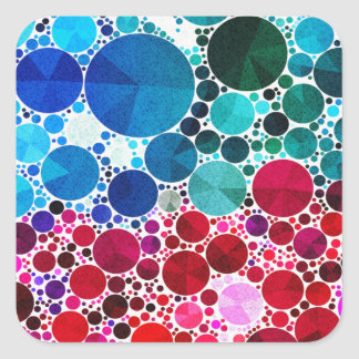 Bling Bright Abstract Square Sticker