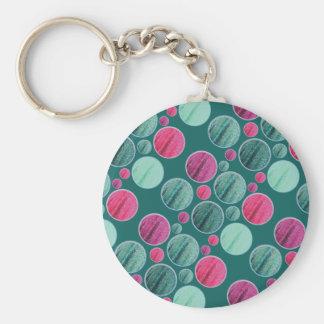 bling circle keychain