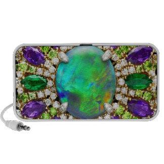 Bling Costume Jewelry Mandala Laptop Speakers