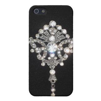 Bling Diamond Jewel on Black Velvet Case For The iPhone 5