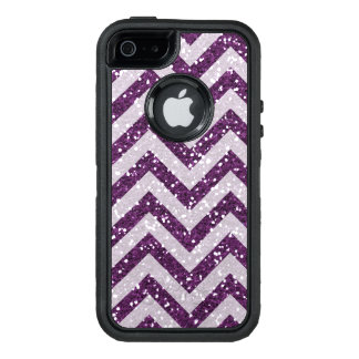 Bling faux purple chevron otter case