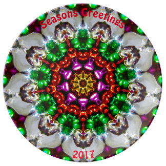 ~ Bling for a Merry Christmas Fractal ~ Plate
