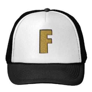 Bling Gold F Trucker Hat