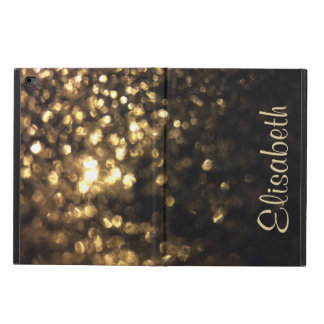 Bling Gold Glitter Personalized with Your Name Powis iPad Air 2 Case