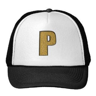 Bling Gold P Mesh Hats