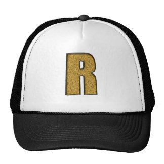 Bling Gold R Hats