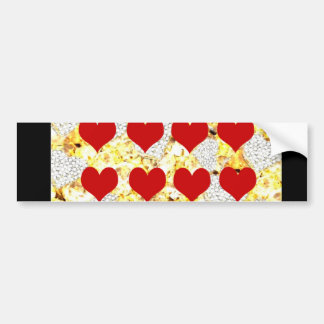 BLING HEARTS BUMPER STICKER