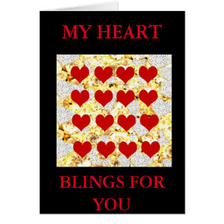 BLING HEARTS CARD