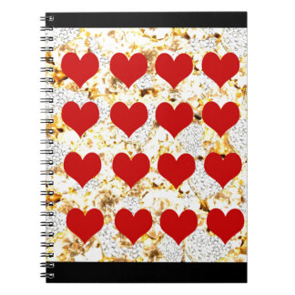 BLING HEARTS NOTEBOOK