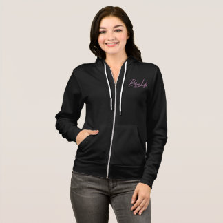 Bling Life Coffee makes me sparkle zip up hoodie