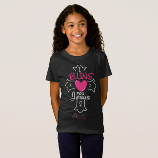 Bling Life Girls I Bling for Jesus Jersey T-Shirt