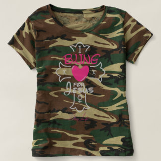 Bling Life I Bling for Jesus Camouflage T-Shirt