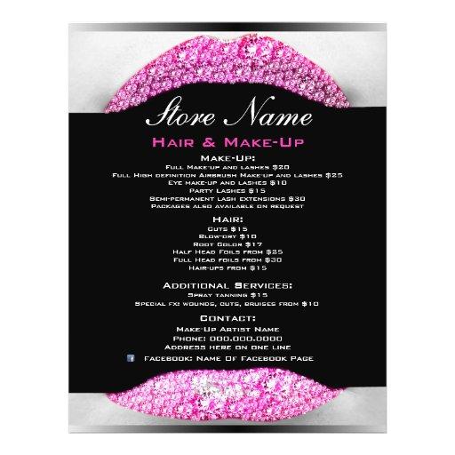 Bling Make-Up Artist Beauty Salon List Of Services Custom Flyer