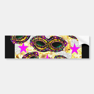 BLING MARDI GRAS BUMPER STICKER