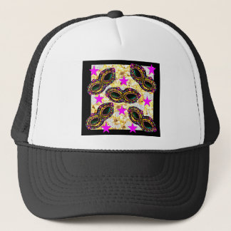 BLING MARDI GRAS TRUCKER HAT