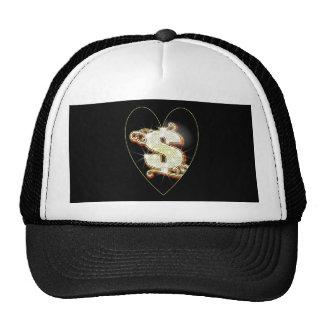 Bling Money Symbol Heart Trucker Hat